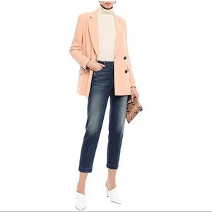 FRAME -Le Nouveau Straight cropped distressed high-rise straight-leg jeans